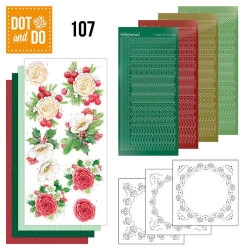 Dot and Do 107 - Kit Carterie 3D - Fleurs en Hiver