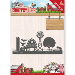 Dies - Yvonne Creations - Country Life - Bordure Ferme