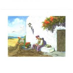 Image 3D - venezia 228 - 24x30 - vieux pêcheurs