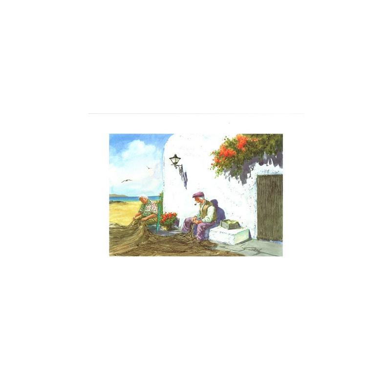 Image 3D VENEZIA 228 - 24X30 - Vieux pêcheurs