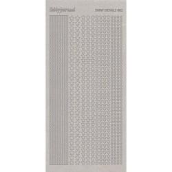 Stickers Shiny Détails 002 - Etoiles Paillettés Argent