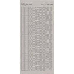 Stickers Shiny Détails 004 - Ovales Paillettés Argent
