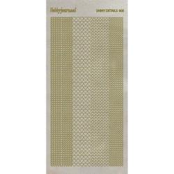 Stickers Shiny Détails 005 - Coeurs Paillettés Or