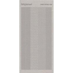 Stickers Shiny Détails 005 - Coeurs Paillettés Argent
