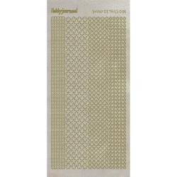 Stickers Shiny Détails 006 - Fleurs Paillettés Or