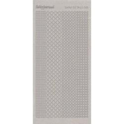 Stickers Shiny Détails 006 - Fleurs Paillettés Argent