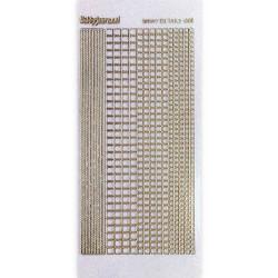 Stickers Shiny Détails 007 - Carrés Paillettés Or