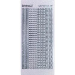 Stickers Shiny Détails 007 - Carrés Paillettés Argent