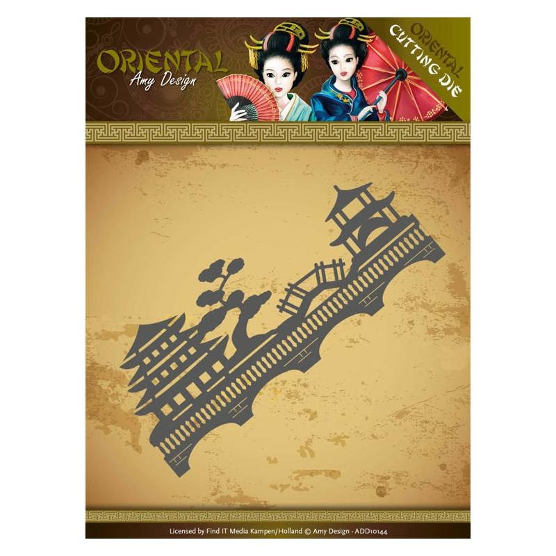 Die - Amy Design - Oriental - Paysage 12.5x5.2 cm