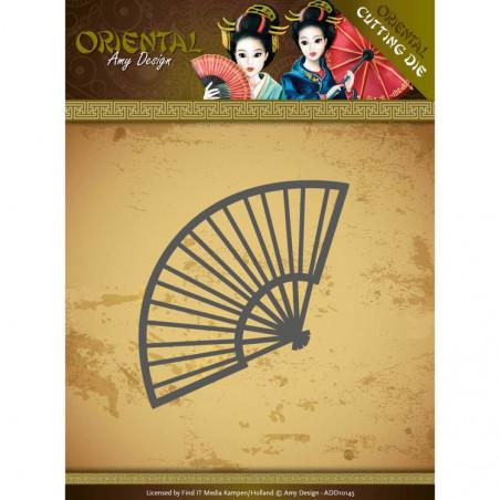 Die - ADD10145 - oriental - eventail 7 x 4 cm