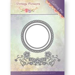 Die - jeanine's art - vintage flowers - fleurs et cercles 8.5x8.5 cm