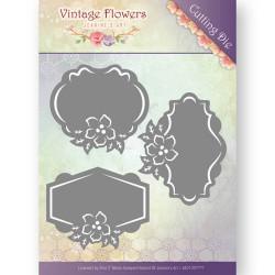 Die - jeanine's art - vintage flowers - etiquettes fleurs