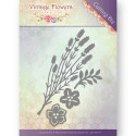 Die - Jeanine's Art - Vintage Flowers - Feuilles et Fleurs 5.2x8.9 cm