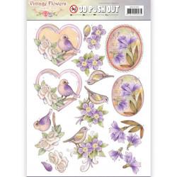 Carterie 3D Prédécoupée - Jeanine's Art - Vintage Flowers - Fleurs