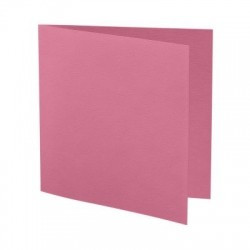 1001 - CARTE CARREE 260X130 220G CORAIL paquet de 5 cartes