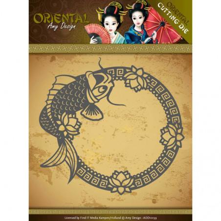 Die - ADD10139 - oriental - koi 11.2x12.2 cm