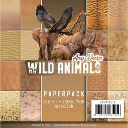 Bloc de papier - Amy Design - Wild Animals 15.2 x 15.2