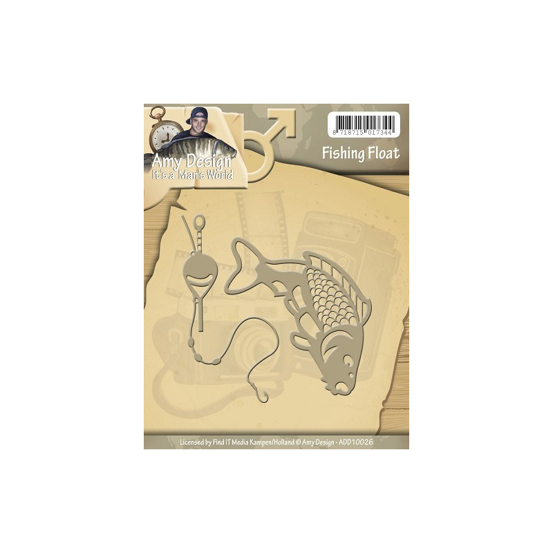 Die - Amy Design - Man's world - La pêche . 7 x 3 cm et 7 x 3 cm.