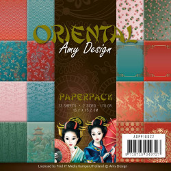 Bloc de papier - Amy Design - Oriental 15.2 x 15.2