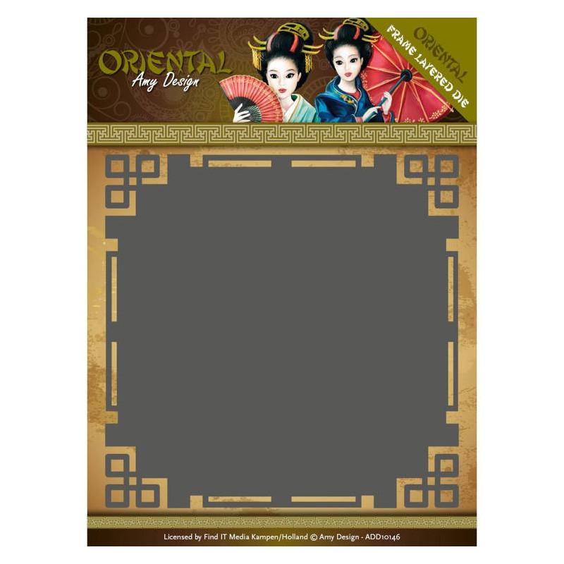Die - Amy Design - Oriental - Cadre carré 13x13 cm
