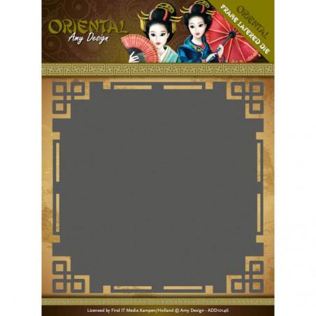 Die - ADD10146 - oriental - cadre carré 13x13 cm