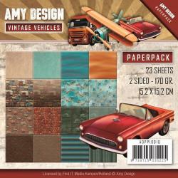 Bloc de papier -  Amy Design - Vintage Vehicules 15.2 x 15.2
