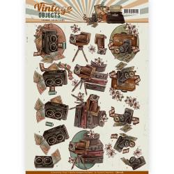 Carte 3D à découper - yvonne creations - vintage objects - appareil photo