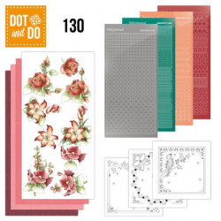 Dot and do 130 - kit Carte 3D - precious marieke - fleurs rouges