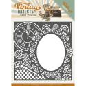 Dies - Yvonne Creations - Vintage Objects - Cadre Horloge