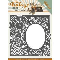 Dies - yvonne creations - vintage objects - cadre horloge