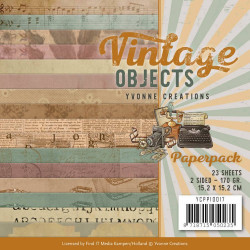 Bloc de papier - Yvonne Creations - Vintage Objects 15 x 15 cm