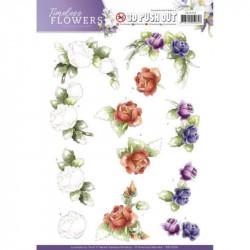 Carte 3D prédéc. - precious marieke - timeless flowers - roses