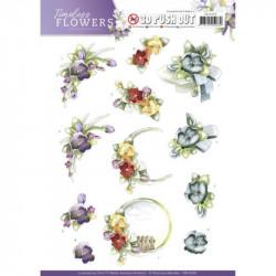Carterie 3D Prédécoupée -  Precious Marieke - Timeless Flowers - Violets