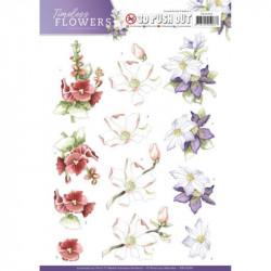 Carte 3D prédéc. - precious marieke - timeless flowers - garden flowers