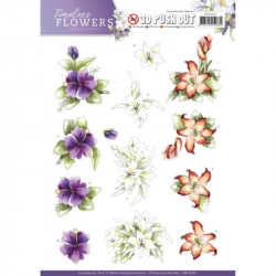 Carte 3D prédéc. - precious marieke - timeless flowers - lillies