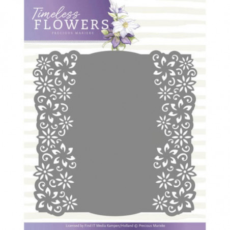 Die - precious marieke - timeless flowers - cadre clematis 13.5x13.5 cm