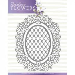 Die - precious marieke - timeless flowers - clematis ovale 9,5 x 12 cm, 5,5 x 7,8 cm.