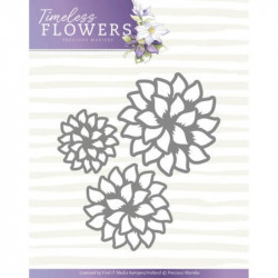 Die - precious marieke - timeless flowers - trio dahlia 7 x 6 cm.