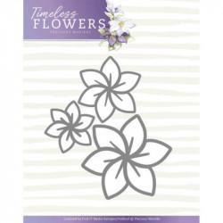 Die - precious marieke - timeless flowers - trio clematis 5,5 x 5 cm.