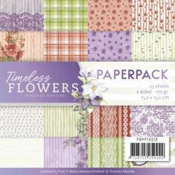 Bloc de papier - Precious Marieke - Timeless Flowers 15.2 x 15.2 cm
