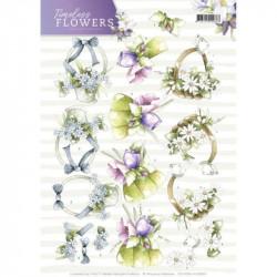 Carte 3D à découper - precious marieke - timeless flowers - bouquets