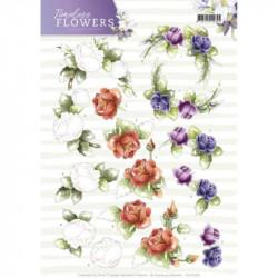Carterie 3D à découper - Precious Marieke - Timeless Flowers - Roses
