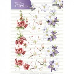Carte 3D à découper - precious marieke - timeless flowers - fleurs de jardin