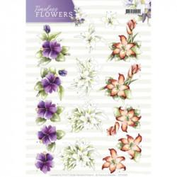 Carterie 3D à découper - Precious Marieke - Timeless Flowers - Lys