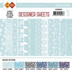 Bloc papier designer bleu bébé12 feuilles 15.2 x 15.2 cm