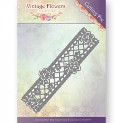 Die - Jeanine's Art - Vintage Flowers - Bordure fleurs 4.3 x 13.5 cm