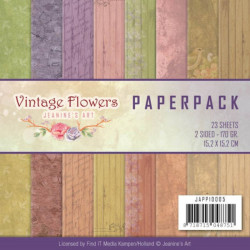 Bloc de papier - Jeanine Art - Vintage Flowers 15.2 x 15.2