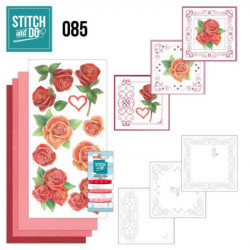 Stitch and Do 85 - Kit Carterie 3D broderie - Roses