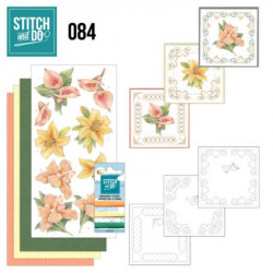 Stitch and Do 84 - Kit Carterie 3D broderie - Fleurs jaunes