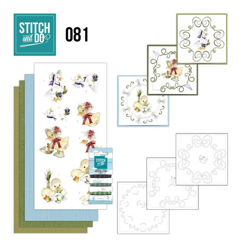 Stitch and Do 81 Carterie 3D broderie - Canetons